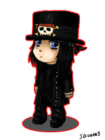 Mick Mars Chibi by SavanasArt