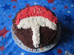 Uchiha Fan Cake by zukos-little-girl-13