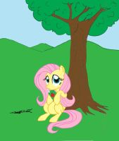 MLP - Fluttershy and Her Juice Box by WillisNinety-Six