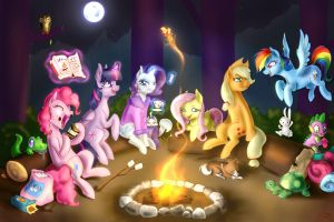 Campfire party by Tzelly-El