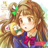 Kotori and Rowlet by WeN-XiU
