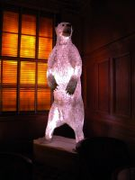 Polar Bear Stained Glass Mosaic by 3DStainedGlass