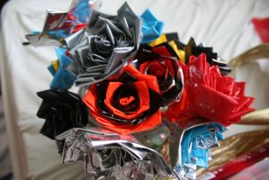 I'm selling duct tape roses by theshyfox