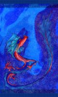 Water dragon swimming by persephone-the-fish