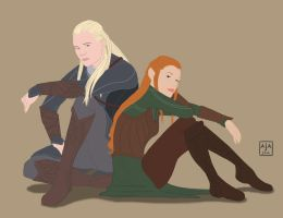 Legolas and Tauriel by airealataiel