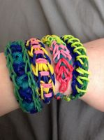 Made some bracelets by Ember-Flame007
