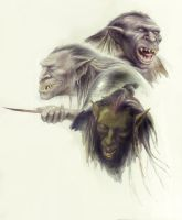 Orc Faces by TurnerMohan