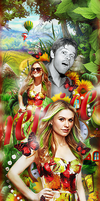 Anna Paquin and Misha Collins by by-Oblomskaya