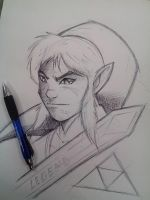 Link warm up sketch by DamageArts