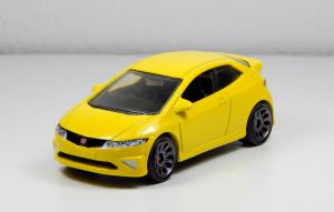 Matchbox 2008 Honda Civic Type R in Yellow by Firehawk73-2012