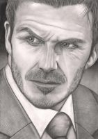 David Beckham Portrait by Pen-Tacular-Artist