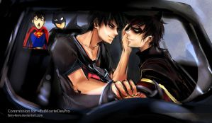 CM: In The Batmobile by fairy-ferre