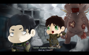 Attack on Evil, Captain! by FlaminiaKennedy