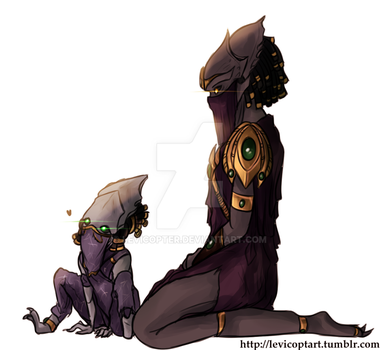 Vorazun and Raszagal by Levicopter