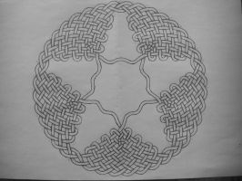 Circular celtic knot by Trablete