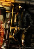 The last flight (Aaron Drake Resident evil OC) by Saxa-XCII