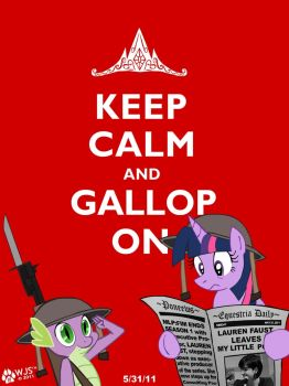 Keep Calm and Gallop On by wolfjedisamuel