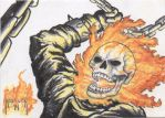 Ghost Rider Sketch Card by DieselNYC