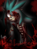 .:~Halloween Speedpaint - Battle the Zombie~:. by SilverfanNumberONE