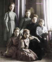 Imperial children with Alix by historicalgirl