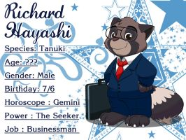 My new OC character : Richard Hayashi by doraemonbasil