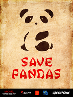 Save Pandas poster by gemicek