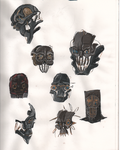 Dishonored helmet concepts II. by smallblackbook