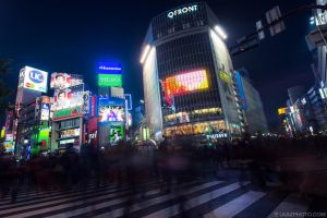 Shibuya Crossing by burningmonk