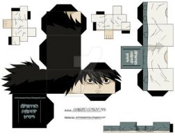 L death note papertoy by animepapertoys
