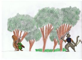 Fell vs Wildcat with trees by Rafe15