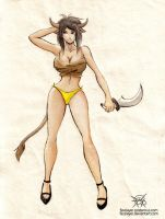 assassin cow girl by FASSLAYER