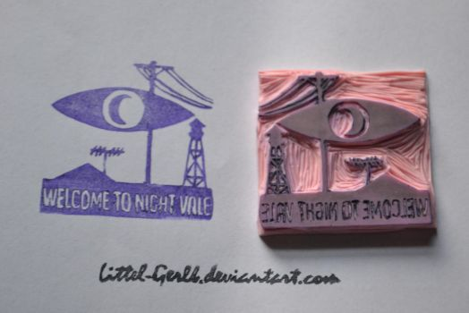 Welcome To Night Vale Stamp by Littel-Gerll