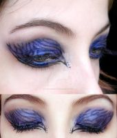 make-up blue black zebra by Dead-Rose-16