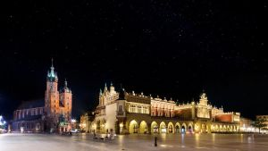 Stars over Cracow by Dybcio