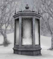 winter cage background by indigodeep