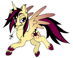 Kitty's Alicorn by TripperWitch