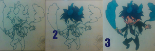 Chibi Rin Okumura From White to Color by ChibiShadowPanda