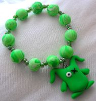 Ugly Green Monster Bracelet by lavadragon