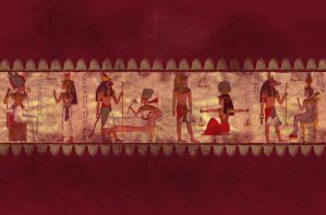 Stock - Egyptian wall fresco by crayonmaniac