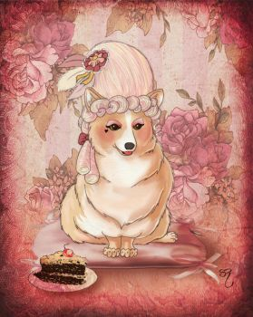 Corgie Antoinette by PlaidTidings
