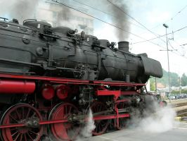 steam train 01 by kuschelirmel-stock