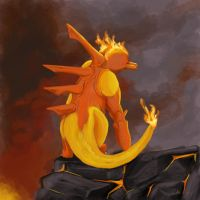 Magmar on the Mountain by Notomys-mordax