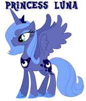 Princess Luna by fallentng
