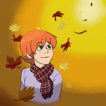 EerieTober, Day 3- Leaves by Sydthekid15