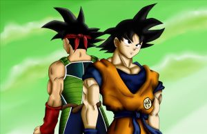 Bardock And Goku by POLYKRPIO
