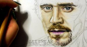 Tom Hiddleston 7- WIP by GeeFreak