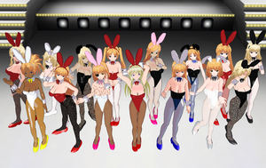 Blonde bunnies by quamp