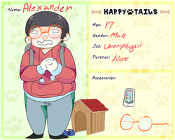 Happy Tails:Alexander by Lazy-A
