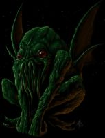 Cthulhu Sits by Shredguts