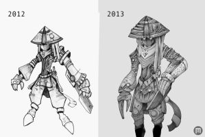 Eleo Ninja before and now by MangoKingoroo